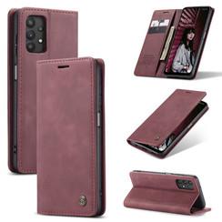 CaseMe - Samsung Galaxy A32 5G hoesje - Wallet Book Case - Magneetsluiting - Donker Rood
