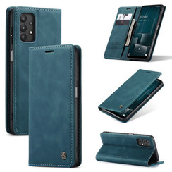 CaseMe - Samsung Galaxy A32 5G hoesje - Wallet Book Case - Magneetsluiting - Blauw