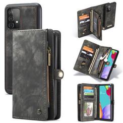 CaseMe - Samsung Galaxy A52 5G Hoesje - 2 in 1 Back Cover - Zwart