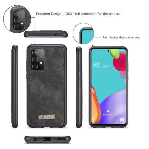 CaseMe CaseMe - Samsung Galaxy A52 5G Hoesje - 2 in 1 Back Cover - Zwart