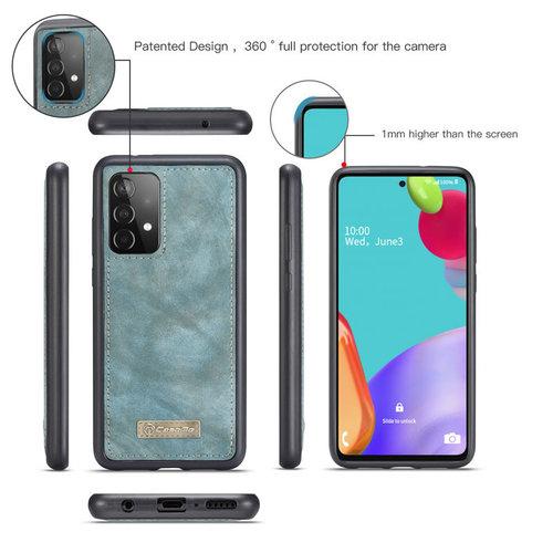 CaseMe CaseMe - Samsung Galaxy A52 5G Hoesje - 2 in 1 Back Cover - Blauw