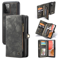 CaseMe - Case for Samsung Galaxy A72 5G - Wallet Case with Card Holder, Magnetic Detachable Cover - Black