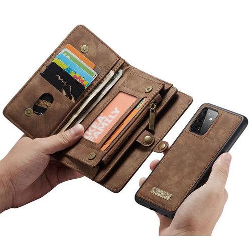 CaseMe CaseMe - Samsung Galaxy A72 5G Hoesje - 2 in 1 Back Cover - Bruin