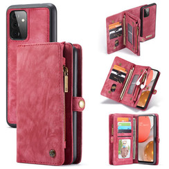 CaseMe - Case for Samsung Galaxy A72 5G - Wallet Case with Card Holder, Magnetic Detachable Cover - Red