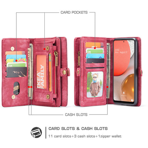 CaseMe CaseMe - Samsung Galaxy A72 5G Hoesje - 2 in 1 Back Cover - Rood
