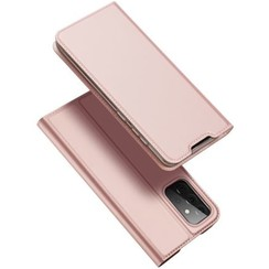 Case for Samsung Galaxy A72 5G Ultra Slim PU Leather Flip Folio Case with Magnetic Closure - Black -Rosé-Gold