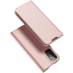 Samsung Galaxy A72 5G Hoesje - Dux Ducis Skin Pro Book Case -  Rosé-Goud