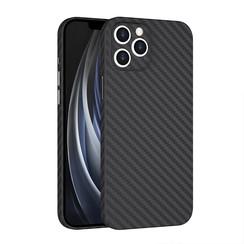 Wiwu - iPhone 12 Pro hoesje - Skin Carbon Case - Kunststof Back Cover - Zwart
