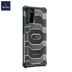 WiWu - Samsung Galaxy S20 FE Hoesje - Voyager Case - Schokbestendige Back Cover - Donker Groen