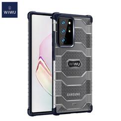 WiWu - Samsung Galaxy Note 20 Ultra Hoesje - Voyager Case - Schokbestendige Back Cover - Blauw