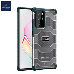 WiWu - Samsung Galaxy Note 20 Ultra Hoesje - Voyager Case - Schokbestendige Back Cover - Donker Groen