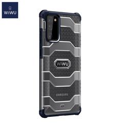 WiWu - Samsung Galaxy S20 FE Hoesje - Voyager Case - Schokbestendige Back Cover - Donker Blauw