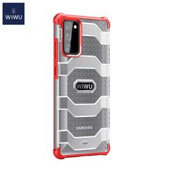 WiWu - Samsung Galaxy S20 FE Hoesje - Voyager Case - Schokbestendige Back Cover - Rood