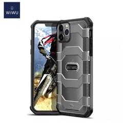 WiWu - iPhone 12 Pro Max Hoesje - Voyager Case - Schokbestendige Back Cover - Zwart