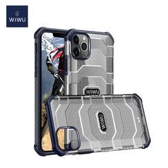 WiWu - iPhone 12 Pro Max Hoesje - Voyager Case - Schokbestendige Back Cover - Donker Blauw