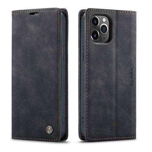 CaseMe CaseMe - iPhone 12 Pro Max hoesje - Wallet Book Case - Magneetsluiting - Zwart