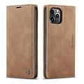 CaseMe CaseMe - iPhone 12 Pro Max hoesje - Wallet Book Case - Magneetsluiting - Bruin