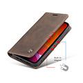 CaseMe CaseMe - iPhone 12 Pro Max hoesje - Wallet Book Case - Magneetsluiting - Donker Bruin