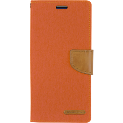 Samsung Galaxy S20 FE Hoesje - Mercury Canvas Diary Wallet Case - Hoesje met Pasjeshouder - Oranje