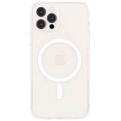 iPhone 12 Pro Max Hoesje - Magsafe Case - Magsafe compatibel - TPU Back Cover - Transparant