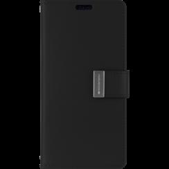 iPhone 12 / 12 Pro Hoesje - Goospery Rich Diary Case  - Hoesje met Pasjeshouder - Zwart