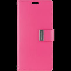 iPhone 12 / 12 Pro Hoesje - Goospery Rich Diary Case  - Hoesje met Pasjeshouder - Magenta