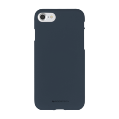 iPhone Hoesje geschikt voor iPhone 7/iPhone 8/iPhone SE 2020 Hoesje - Soft Feeling Case - Back Cover - Donker Blauw