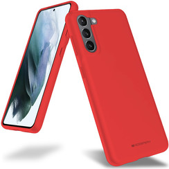 Samsung Galaxy S21 Hoesje - Soft Feeling Case - Back Cover - Rood