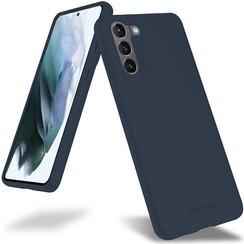 Samsung Galaxy S21 Hoesje - Soft Feeling Case - Back Cover - Donker Blauw