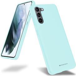 Samsung Galaxy S21 Hoesje - Soft Feeling Case - Back Cover - Licht Blauw
