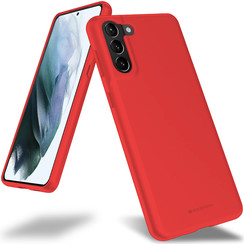 Samsung Galaxy S21 Plus Hoesje - Soft Feeling Case - Back Cover - Rood