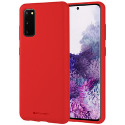 Samsung Galaxy S20 Hoesje - Soft Feeling Case - Back Cover - Rood