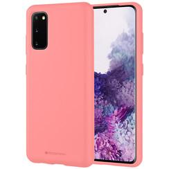 Samsung Galaxy S20 Hoesje - Soft Feeling Case - Back Cover - Roze