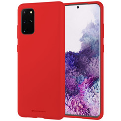Samsung Galaxy S20 Plus Hoesje - Soft Feeling Case - Back Cover - Rood