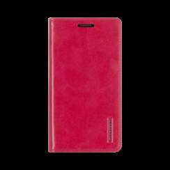 iPhone 12 / 12 Pro Hoesje - Blue Moon Flip Case - Met pasjeshouder - Rood