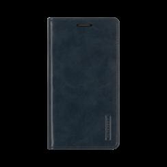 Samsung Galaxy S21 Hoesje - Blue Moon Flip Case - Met pasjeshouder - Donker Blauw
