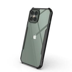 iPhone 11 Pro Max Hoesje - Super Protect Slim Bumper - Back Cover - Zwart/Transparant