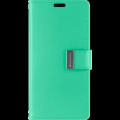 Samsung Galaxy S21 Ultra Hoesje - Goospery Rich Diary Case - Hoesje met Pasjeshouder - Turquoise