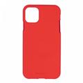 Mercury Goospery Apple iPhone 11 Pro Max Hoesje - Soft Feeling Case - Back Cover - Rood