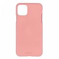 Mercury Goospery Apple iPhone 11 Pro Max Hoesje - Soft Feeling Case - Back Cover - Roze