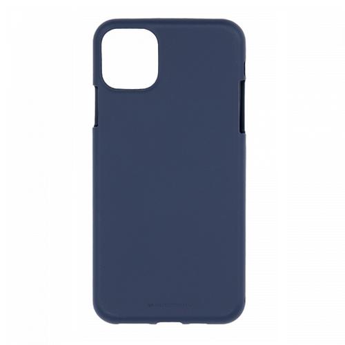 Mercury Goospery Apple iPhone 12 Pro Max  Hoesje - Soft Feeling Case - Back Cover - Donker Blauw