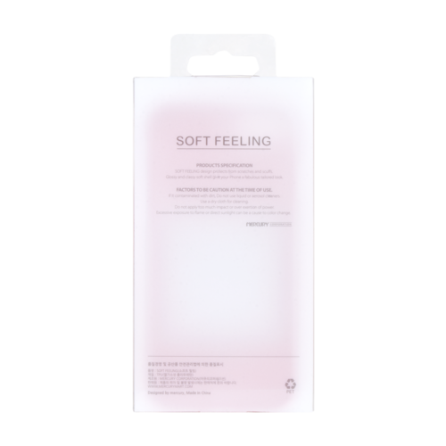 Mercury Goospery Apple iPhone 12 / iPhone 12 Pro Hoesje - Soft Feeling Case - Back Cover - Rood
