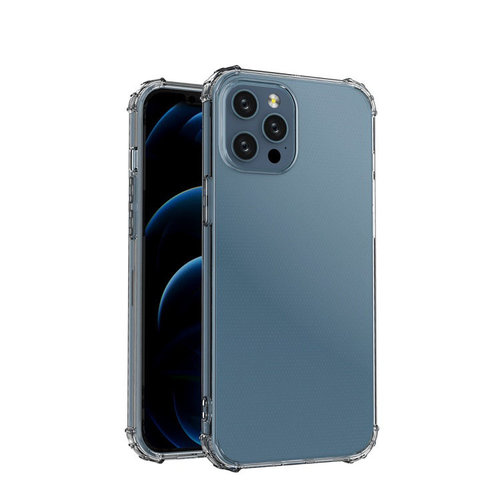 Case2go Apple iPhone 12/iPhone 12 Pro Hoesje - Clear Soft Case - Siliconen Back Cover - Shock Proof TPU - Transparant