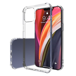 Apple iPhone 12 Pro Max Hoesje - Clear Soft Case - Siliconen Back Cover - Shock Proof TPU - Transparant