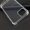 Case2go Apple iPhone 12 Pro Max Hoesje - Clear Soft Case - Siliconen Back Cover - Shock Proof TPU - Transparant