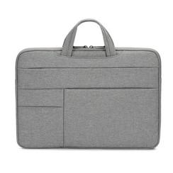 Laptoptas 13 inch - Laptophoes Met Extra Vakken - Laptop Sleeve met Handvat - Spatwaterdichte tas - Grijs