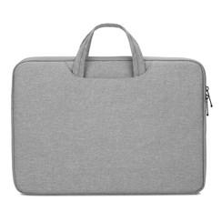 Laptoptas - Laptophoes 13 inch - Laptop tas en Laptop Sleeve in één - Met Extra Vak - Licht Grijs