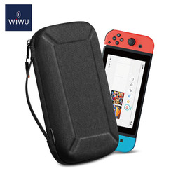 WIWU - Nintendo Switch Case - Nintendo Switch Accessoires - Nintendo Switch Beschermhoes en Standaard - Zwart