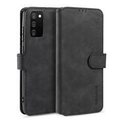 CaseMe - Samsung Galaxy A02s Hoesje - Met Magnetische Sluiting - Ming Serie - Leren Book Case - Zwart