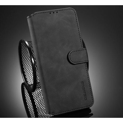 CaseMe CaseMe - Samsung Galaxy A02s Hoesje - Met Magnetische Sluiting - Ming Serie - Leren Book Case - Zwart